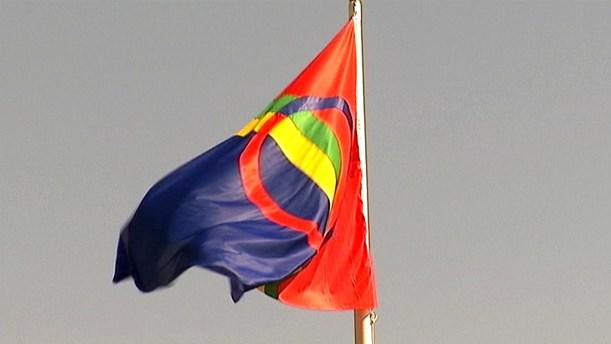 The flag of the Sami people. (Stefan Karlsson / Sameradion & SVT Sápmi)