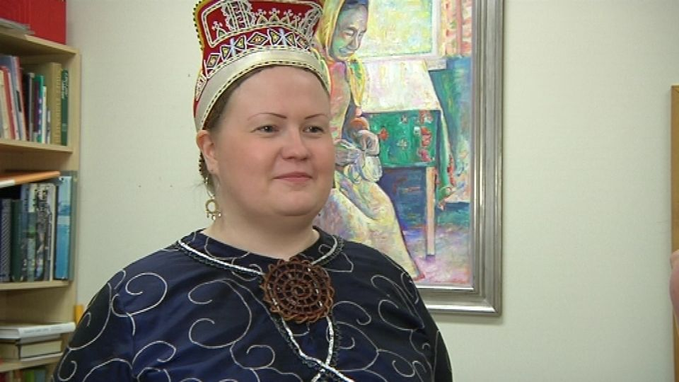 Tiina Sanila-Aikio is known as Paavvâl Taannâl Tiina in her native Skolt Sámi language. (Kirsti Länsman/Yle)