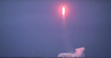 In this undated photo made from the footage taken from Russian Defense Ministry official web site and released on Saturday, Dec. 12, 2015, the Russian navy test-fires a Sineva intercontinental ballistic missile from the Verkhoturye nuclear submarine somewhere in the Barents Sea.  (Russian Defense Ministry Press Service photo via AP)