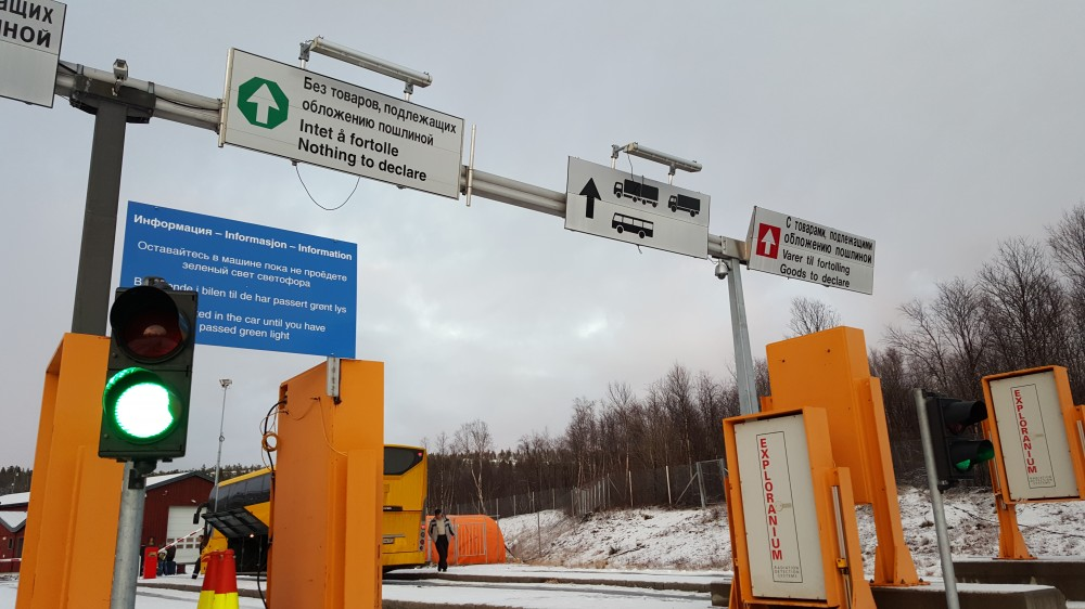 Norway has placed radiation detectors at Storskog border checkpoint aimed at stopping smuggling of radioactive sources from Russia's Kola Peninsula. (Thomas Nilsen/The Independent Barents Observer)