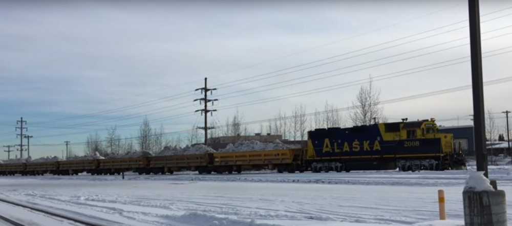 With Anchorage icy and snowless, Iditarod officials shorten ceremonial start. Photo: Alaska News Dispatch/Youtube