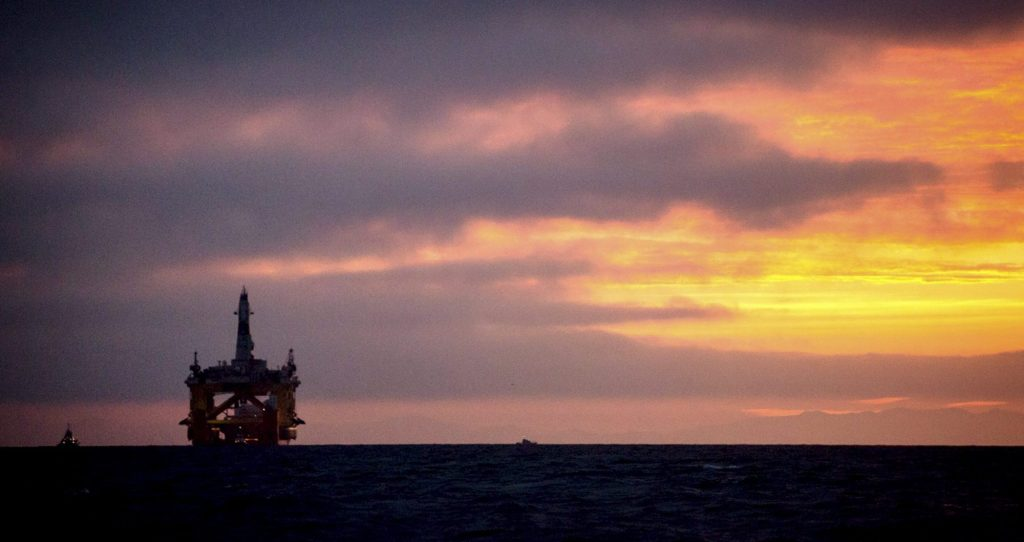 A Royal Dutch Shell oil drilling rig in 2015. The U.S. Interior Department announced a tentative five-year plan on Tuesday that included just a single lease sale each in the Beaufort Sea, Chukchi Sea and Cook Inlet, and said it is considering holding no Alaska lease sales. (Daniella Beccaria/seattlepi.com via AP)