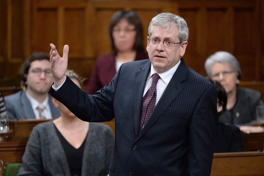 NDP MP Charlie Angus takes part in an emergency debate on the suicide crisis on Aboriginal reserves, particularly in Attawapiskat in Ontario, in the House of Commons in Ottawa, Tuesday, April 12, 2016. Adrian Wyld/THE CANADIAN PRESS