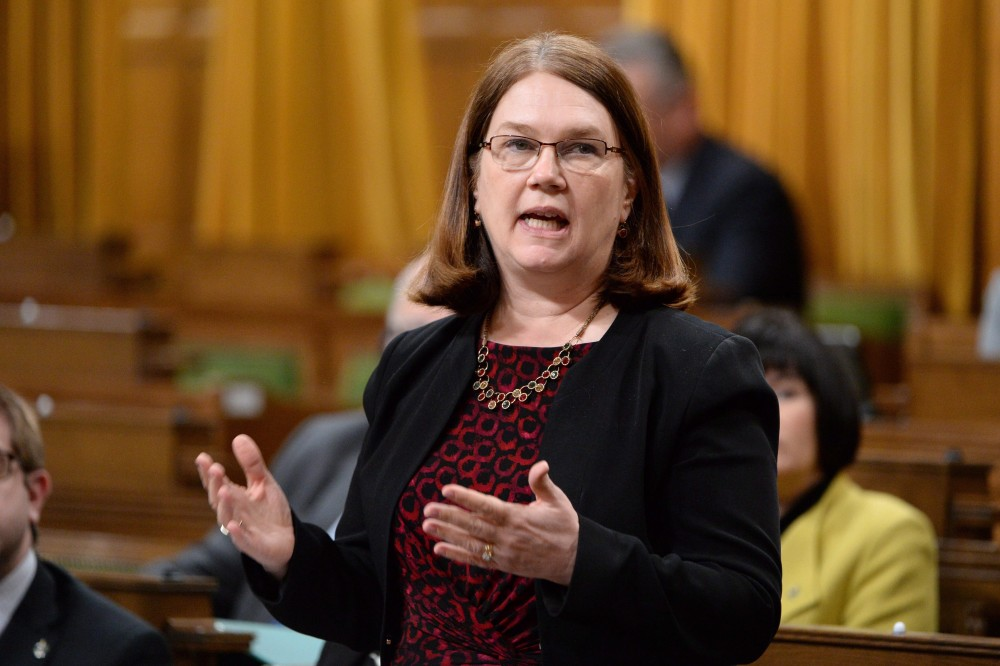 Jane Philpott, minister of Health, takes part in an emergency debate on the suicide crisis on Aboriginal reserves, particularly in Attawapiskat in Ontario, in the House of Commons in Ottawa, Tuesday, April 12, 2016. Adrian Wyld/THE CANADIAN PRESS