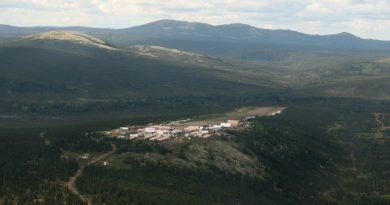 The Donlin Gold work camp and airstrip. Lisa Demer / Alaska Dispatch News