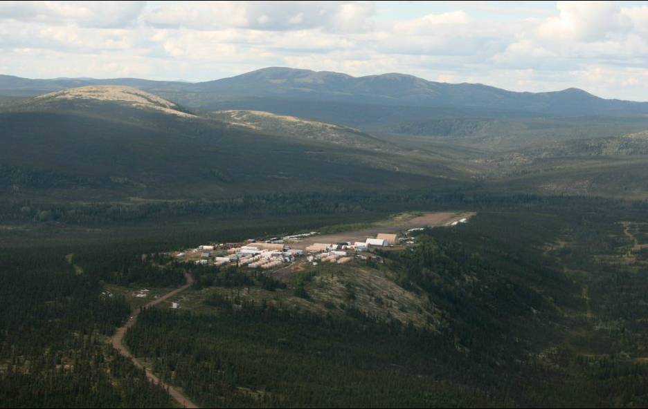 The Donlin Gold work camp and airstrip. Lisa Demer / Alaska Dispatch News