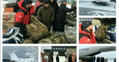 Ramzan Kadyrov's aide on law enforcement issues Daniil Martynov at Longyearbyen airport. All photos from Kadyrov_95 on Instagram