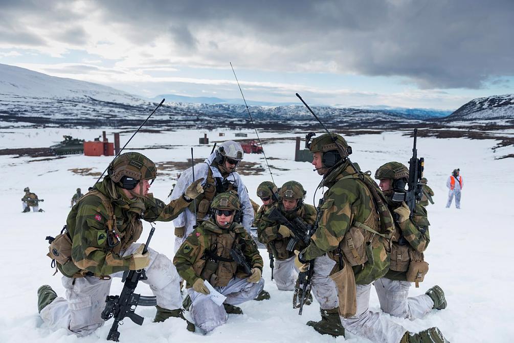 Soldiers from the Norwegian armoured battalion training in Porsangermoen. Frederik Ringnes/Forsvaret