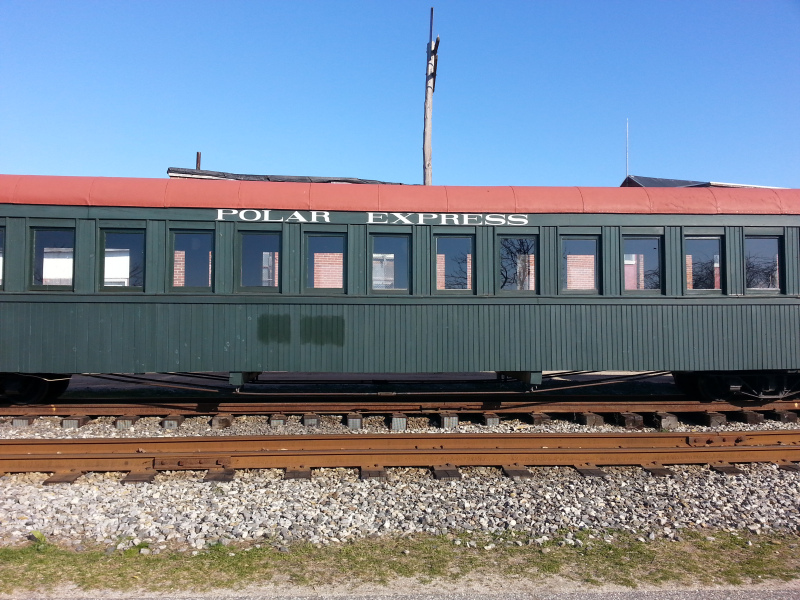 Or you could take this Polar Express train stationed in Portland, Maine to the Arctic.