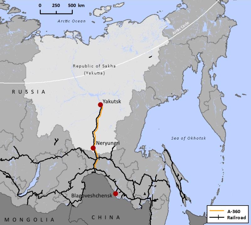 yakutsk_neryungri_map