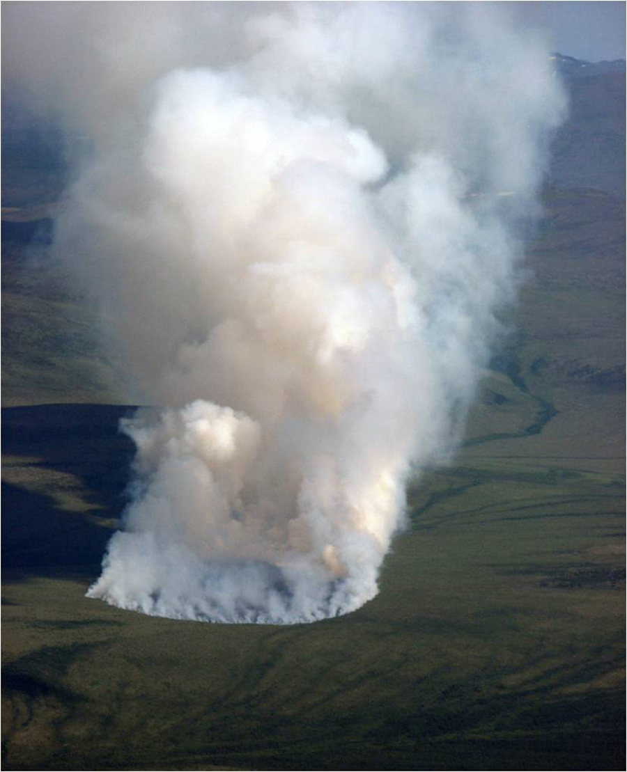 Anaktuvuk River fire, North Slope, Alaska, near the village of Anaktuvuk Pass, in 2007. (Michelle Mack)