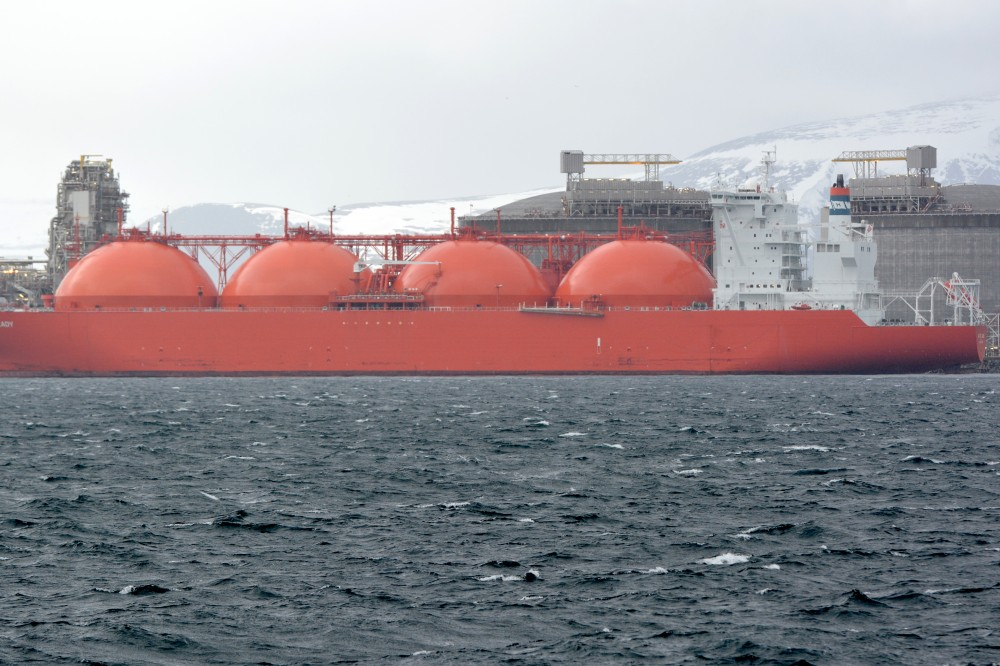 Hammfest LNG processes natural gas from the Snøhvit field in the Barents Sea. Photo: Thomas Nilsen
