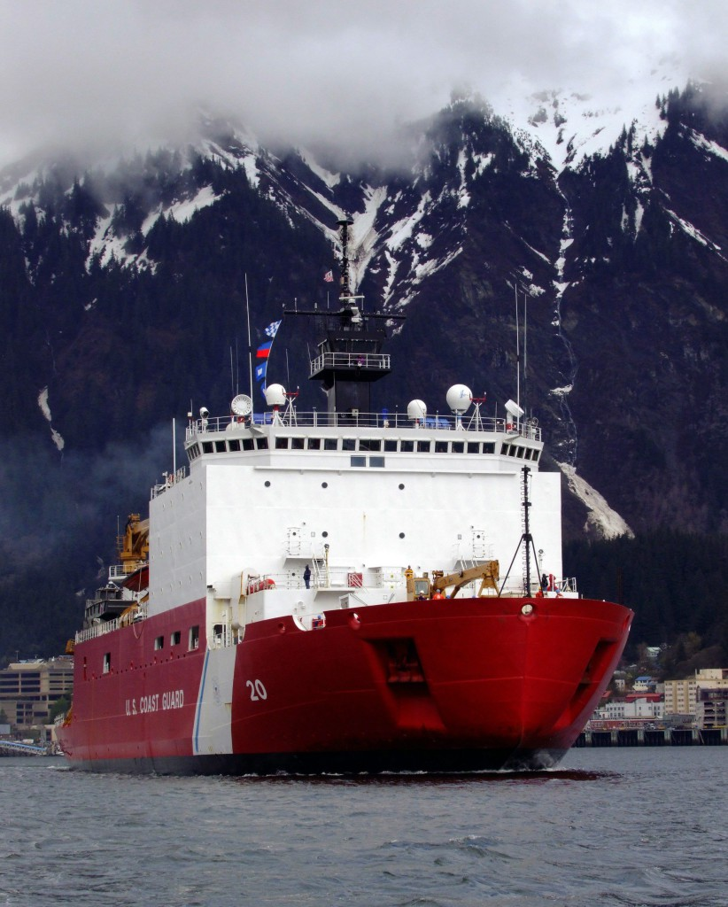 The U.S. has only two heavy-duty icebreakers, one largely scrapped and unusable, the other dedicated to scientific missions in Antarctica. A third icebreaker, the medium-duty Healy (pictured above) travels in the Arctic mainly as a research ship. (The Associated Press/The Canadian Press)