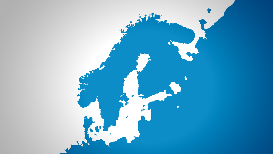 The upper part of the Gulf of Bothnia. Melting continental glaciers can already be seen in the Kvarken Archipelago between Finland and Sweden. (Yle Uutisgrafiikka)