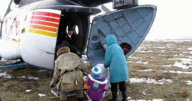 Nenets children studying in boarding (residential) schools in northern Russia got helicopter transport back to their families in some of the most remote locations of the Barents Region. (Thomas Nilsen/The Independent Barents Observer)
