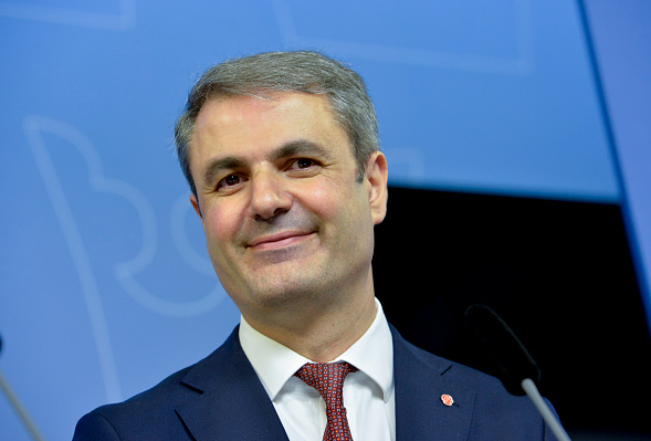 Ibrahim Baylan, Sweden's minister for coordination and energy on May 25, 2016. Sweden has committed to 100 per cent renewable energy but questions remain about the phase-out of nuclear energy. ( Jonas Ekstromer /AFP/Getty Images)