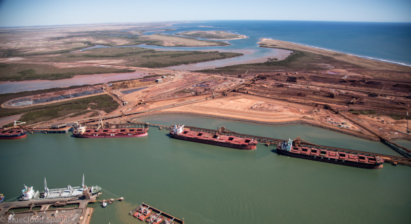 Port Hedland, one of the hubs of the Pilbara, Western Australia's iron ore mining region. ( J. Thomas Macmurray/Flickr) (Creative Commons 2.0 License).