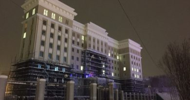 The 15,084 square meter FSB complex (pictured above under construction) was built in three years. (Atle Staalesen/The Independent Barents Observer)