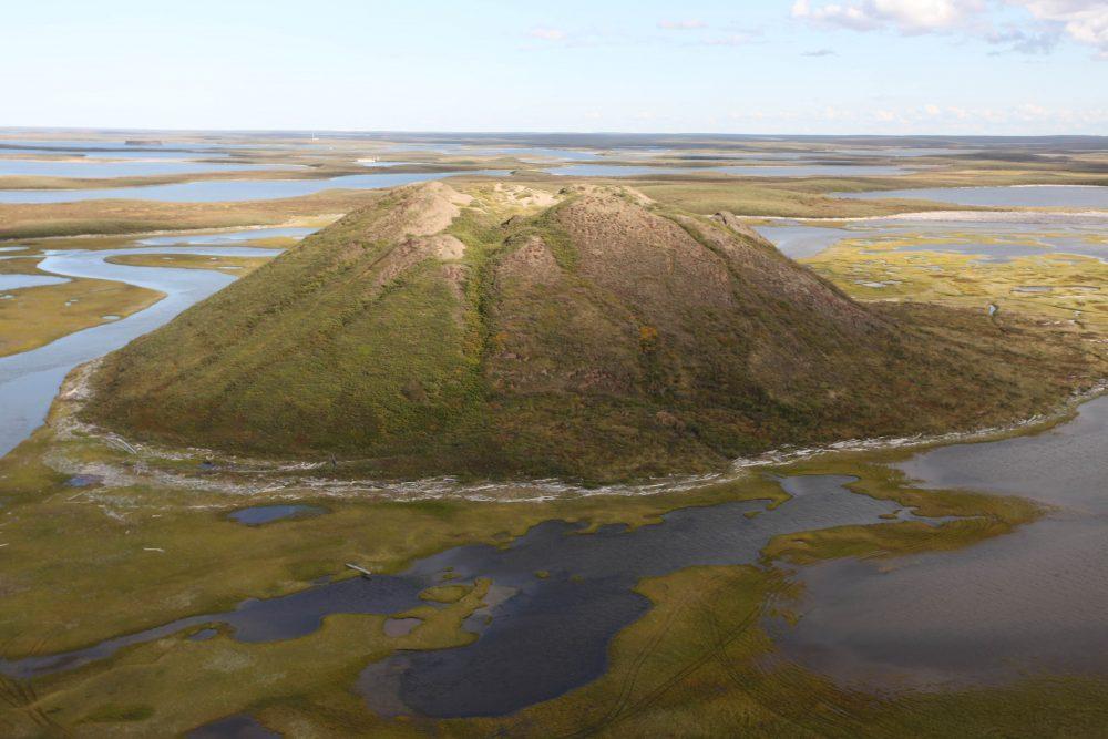 Pingo in the Mackenzie Delta, Northwest Territories, Canada (Photo: John Simmons)