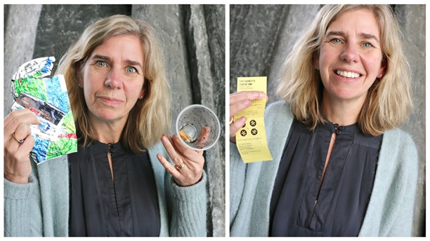 """""""We are all getting more and more aware about the problem of plastic in the oceans,"""" says Johanna Ragnartz, the CEO of Keep Sweden Tidy, (pictured above). """"And if we don't do a lot to try and stop it, I think it will end in a catastrophe."""""""