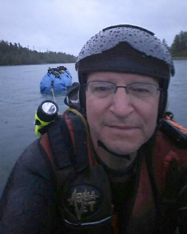 Denis Moran took a selfie when he started the river trip in Whitehorse, Yukon, on May 25. (Denis Morin)