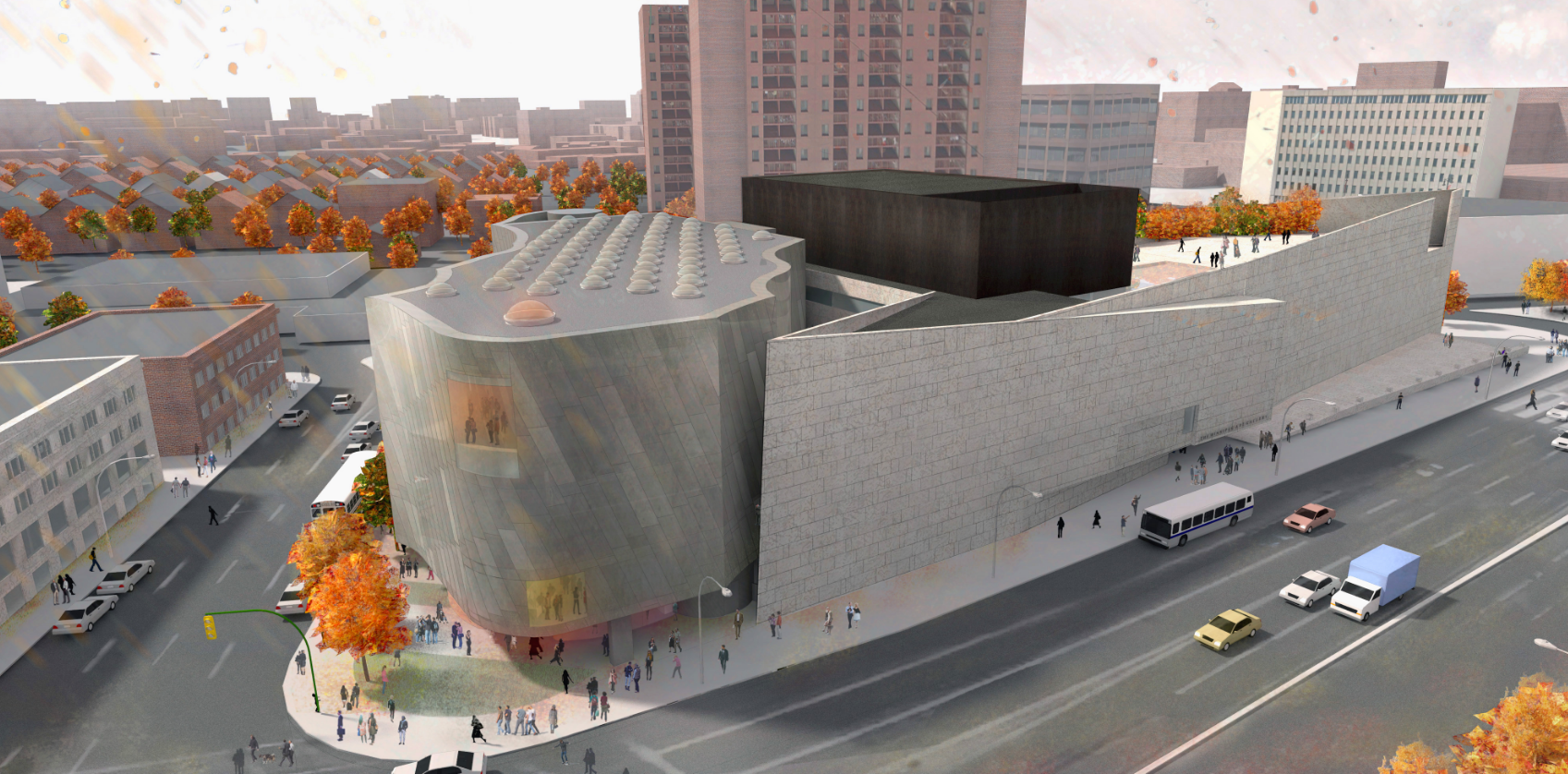 An artist's rendering of the Inuit Art Centre opening in 2020. (Michael Maltzan Architecture/Courtesy Winnipeg Art Gallery)