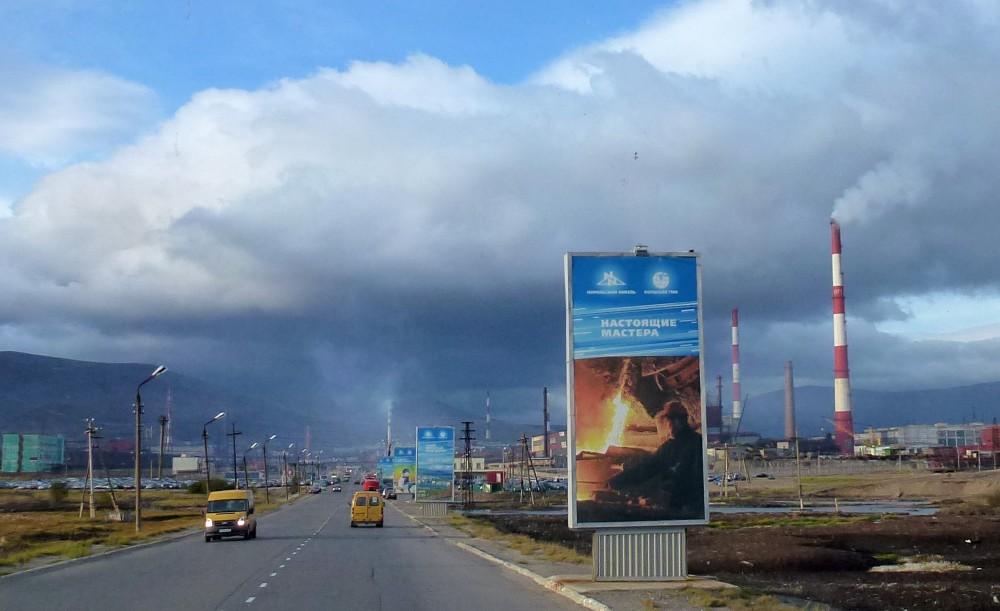 Norilsk-Nickel's smelters Monchegorsk on the Kola Peninsula. (Atle Staalesen/The Independent Barents Observer)