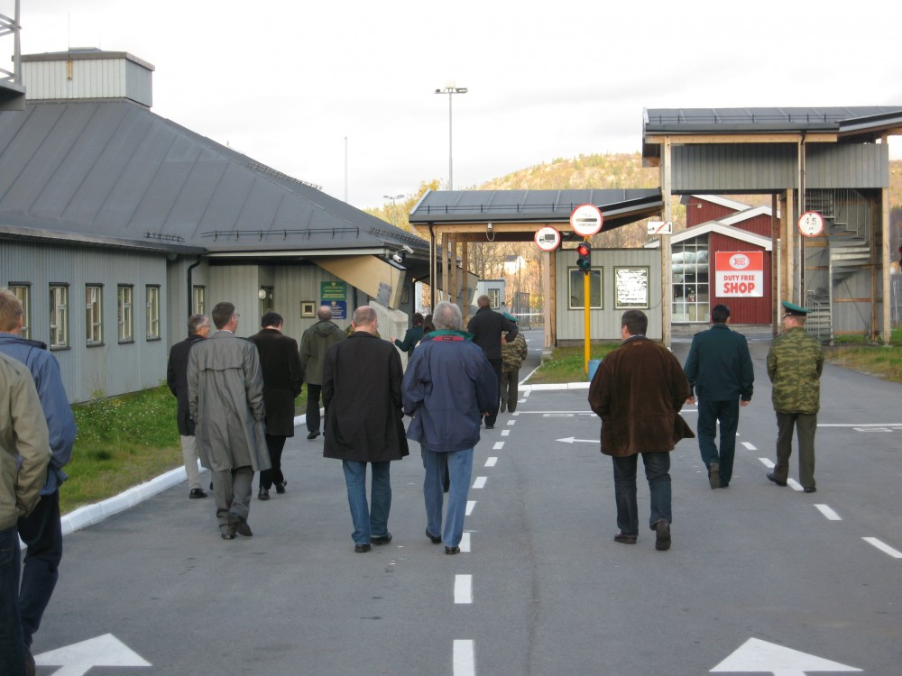 Russia's Borisoglebsk border checkpoint to Norway. (Thomas Nilsen/The Independent Barents Observer)