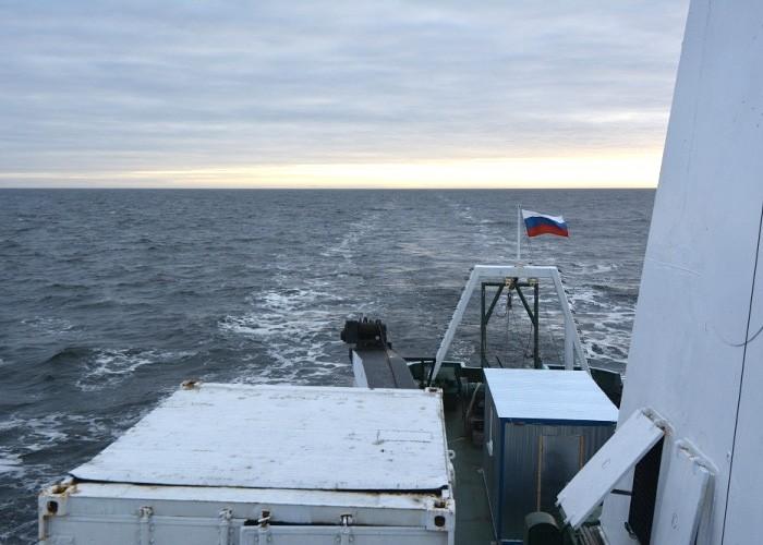 No ice in the Kara Sea horizon. (Thomas Nilsen/The Independent Barents Observer)
