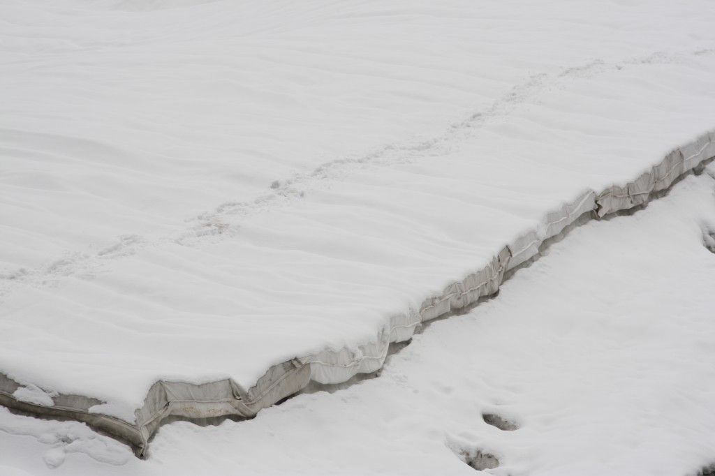 Some glaciers are being covered in summer to stop them melting, this one I saw in Switzerland. Proved ineffective. (Irene Quaile/Deutsche Welle)