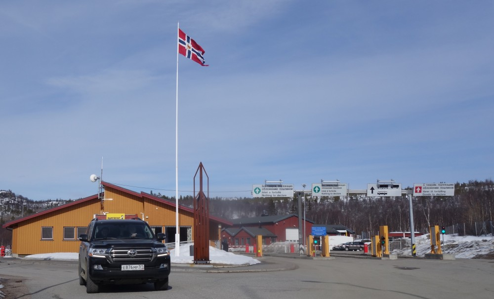 The Storskog border crossing point. (Atle Staalesen)