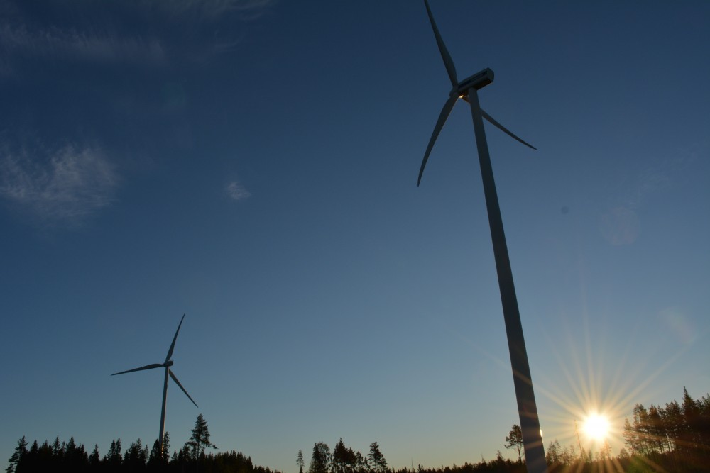 Wind power now accounts for 12 per cent of Sweden's total energy consumption. (Atle Staalesen)