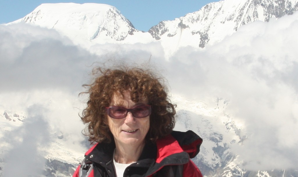 Ice just a memory? Iceblogger in her element in Switzerland. (Irene Quaile/Deutsche Welle)