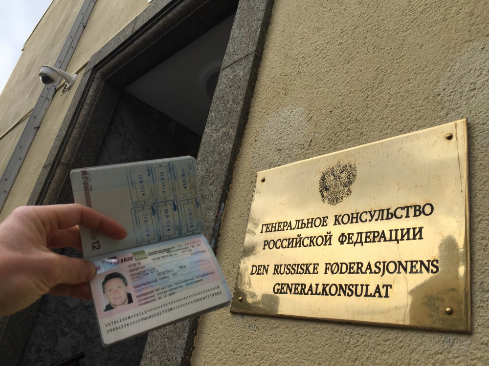 Got it! The Russian General Consulate in Kirkenes, Norway, has issued about 5,500 visa-free travel permits. (Atle Staalesen)