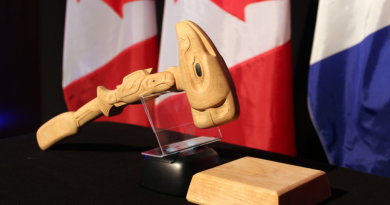 The gavel used by the Chairman of Senior Arctic Officials at Arctic Council meetings. (Linnea Nordström/Arctic Council Secretariat)