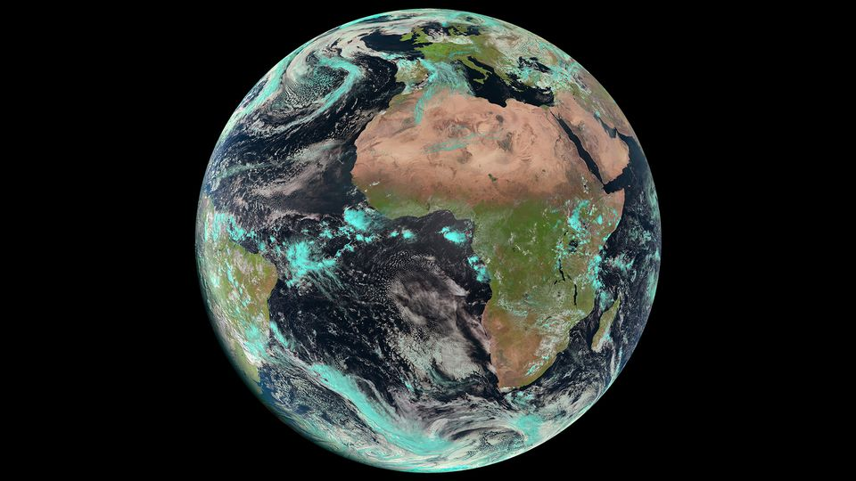 View of planet Earth from the Meteosat-10 satellite. (Eumetsat / ESA)