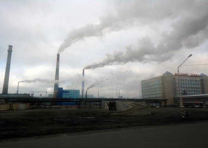 Nadezhda plant in Norilsk. (Thomas Nilsen / The Independent Barents Observer)