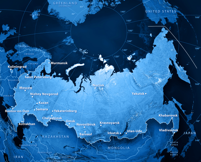 The Northern Sea Route officially stretches from the Novaya Zemlya to the Bering Strait and is promoted as a possible major international transport corridor for the future by Russian authorities. (iStock)