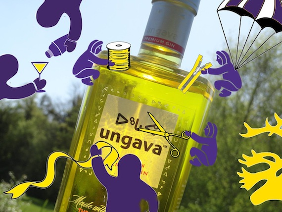 Ungava gin featured cartoon Inuit characters in this ad. The company has now deleted it from the web. (Stephen Agluvak Puskas/ Facebook)