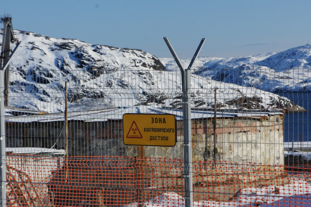 Some 22,000 spent nuclear fuel elements are stored in three old, run-down concrete tanks close to the shore of the Litsa Fjord. (Aleksandr Emelianenko / The Independent Barents Observer)