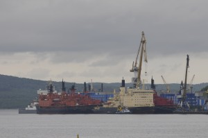 Atomflot in the Kola Bay. (Thomas Nilsen / The Independent Barents Observer)