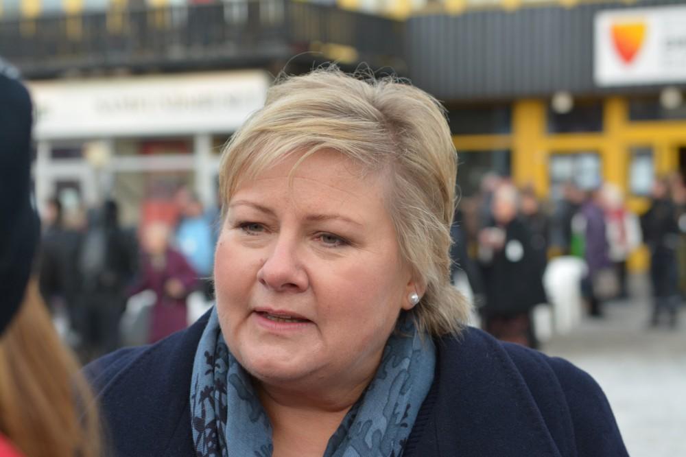 Norwegian Prime Minister Erna Solberg. (Thomas Nilsen/The Independent Barents Observer)