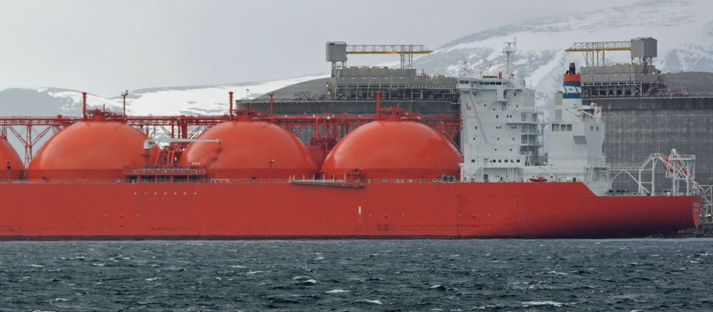 Hammerfest LNG is the world's northernmost liquid natural gas processing plant. Gas from the Snøhvit field off the coast off Finnmark is taken onshore, processed and shipped to the markets in Europe and Asia. (Thomas Nilsen/The Independent Barents Observer)