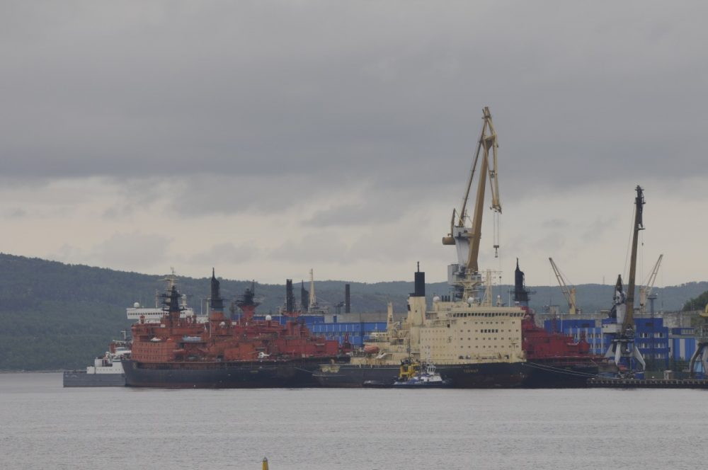 Atomflot is the service base for Russia's fleet of civilian nuclear powered vessels north of Murmansk in the Kola Bay. (Thomas Nilsen / The Independent Barents Observer)