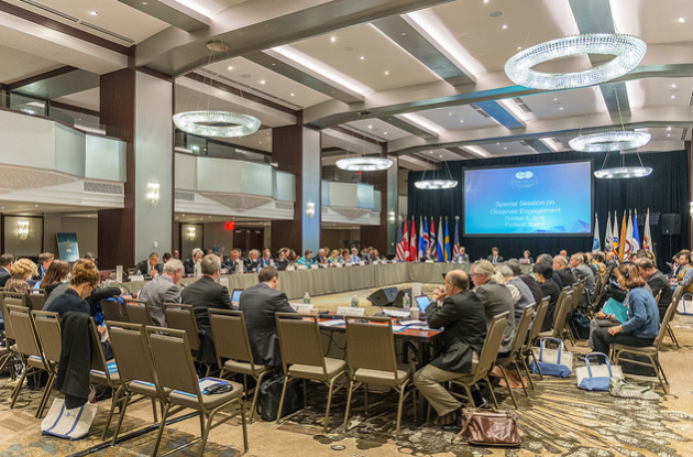 The Special Session on Observer Engagement at the Arctic Council in Portland, Maine. As international interest in the North increases, the question on how many observers the Arctic Council can accommodante has become an enduring issue for the forum. (Linnea Nordström/Arctic Council Secretariat )