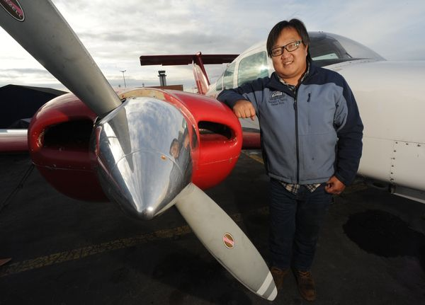 Key Ma is the owner of Land and Sea Aviation Alaska which trains pilots at Merrill Field. Ma said he offers free ground school to high school students to help get more young people interested in flying. (Bill Roth / Alaska Dispatch News)