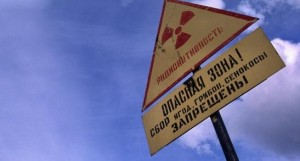 Radiation sign. (Thomas Nilsen / The Independent Barents Observer)