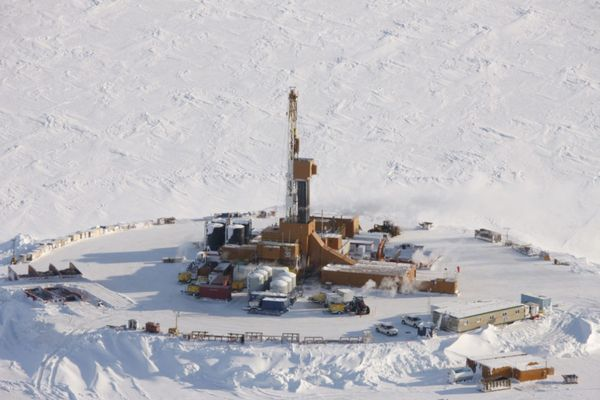 Smith Bay drilling rig in Alaska Arctic southeast of Barrow. (Caelus Energy undated handout photo)