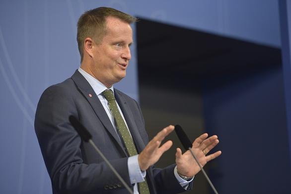 Sweden's Interior Minister Anders Ygeman addresses a press conference in Stockholm on November 11, 2015. (Henrik Montgomery /AFP/Getty Images)