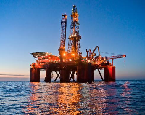 A Lundin Petroleum oil platform in the North Sea. (Lundin Petroleum)